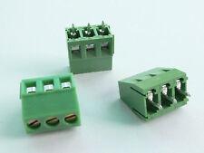 10 pcs 3-Pin 5mm Pitch PCB Mount Screw Terminal Block -USA Seller -Free Shipping