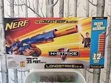 ORIGINAL NERF N-Strike LONGSTRIKE CS-6 Blaster w/ Bonus Darts RARE - NEW IN BOX