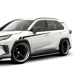 Hokey Stripes For RAV4 TOYOTA body Trim carbon Decal light mirror 2009 2020 2021