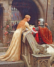 The Knight & Young Woman Lady A Farewell Oil Painting Real Canvas Art Print