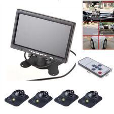7 in (environ 17.78 cm) 4 Split Quad écran LCD vue arrière de voiture moniteur avec voiture bus caméra de vision arrière