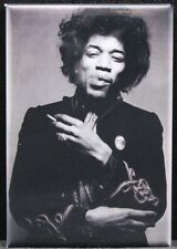 "Jimi Hendrix B & W Photo 2"" X 3"" Fridge Magnet."