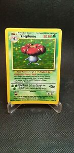 Vileplume - 15/64 - Holo - No Set Symbol Error Misprint - Jungle Pokemon Card