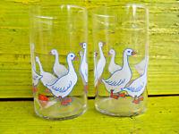 Limoglas Kinderglas Glas Schwanenmotiv 2 Stück DDR VEB Mitropa HO Kosum