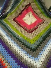 Vintage Style Large Granny Crocheted Blanket Throw Very Pretty Hand Made NEW!
