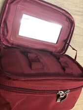 Red, Flattening Double Compartment Make Up Case, Carry Case, Size 19cm X 10cm
