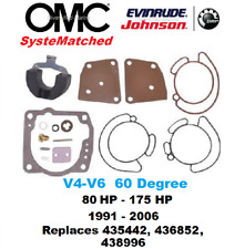 BRP OMC Johnson Evinrude Carburetor Carb Kit 60 Degree V4 80 90 100 115 438996