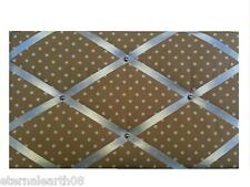Beige Cream Spots Fabric Pinboard, Notice Board, Memo, Message Boards 48 X 30cm