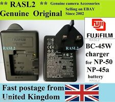 Genuine FUJIFILM Charger,BC-45W FinePix X10 X20 X-F1 Real 3DW3  F900EXR F800EXR