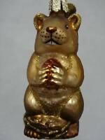 Chipmunk Ornament Glass Old World Christmas 12145  22