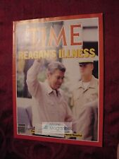TIME July 22 1985 RONALD REAGAN'S ILLNESS New Coke Live Aid South Africa Aparthe