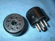 BULGIN OCTAL PLUGS / SOCKET, PAIR,  FOR LEAK /  RADFORD VALVE AMPLIFIER.