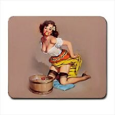 HOT Gil Elvgren Sexy Pinup Girl MOUSE PAD mat mouse pad fair catch pin up gift