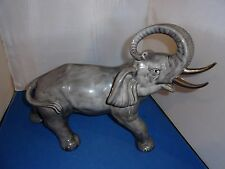 CERAMIC XLG. ELEPHANT WITH TRUNK UP