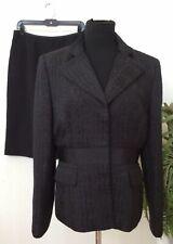 Albert Nipon Women's Career Black Polyester Blend 2 Piece Skirt Suit Size10 EUC!