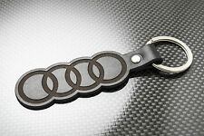 AUDI Leather Keyring Keychain Schlüsselring Porte-clés TT A3 A4 A5 A6 A7 Q3 Q7