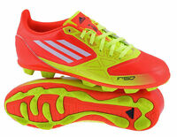 Adidas F50 TRX HG Red Moulded Stud Boys Kids Football Boots Trainers UK10-5
