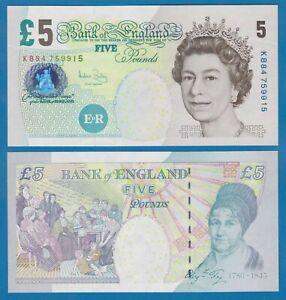 Great Britain England 5 Pounds P 391c (2004) UNC Signature A. Bailay UK P 391 c