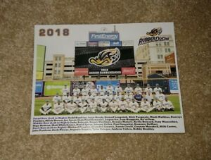 2018 Akron Rubber Ducks Team Photo Cleveland Indians Affiliate Civale - Plesac