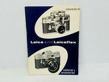 Original 1966 LEICA & LEICAFLEX Cameras & Accessories Catalog #39