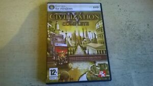 SID MEIER'S CIVILIZATION IV COMPLETE - PC GAME inc WARLORDS BEYOND THE SWORD VGC