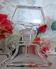 """Vintage Czech Perfume Bottle~Dauber Intact~Signed~2.5"""" Tall~Excellent Condition"""