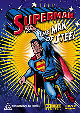 SUPERMAN - THE MAN OF STEEL - BRAND NEW & SEALED ANIMATED DVD (VINTAGE CLASSIC)