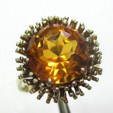 595 - Attraktiver Damenring aus Gelbgold 585 mit Citrin - 2032