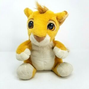 "Vintage Mattel Disney Lion King Talking Simba 12"" Plush Stuffed Animal Toy 1993"