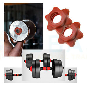 4x Dumbbell Spinlock Collars Weight Check Nut Barbell Bar Clips Spin Lock Screw