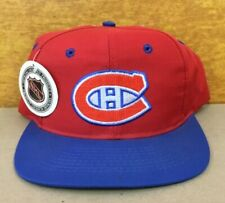Vintage 90's NOS Montreal Canadiens HABS Cap Hat NHL New with Tag Rare back name