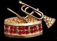 Vintage Shriner Music Instrument Mason Masonic Bolo Tie Clip