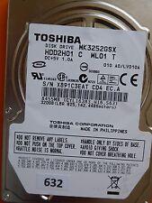 320gb Toshiba mk3252gsx hdd2h01 C wl01 T | lv010a #632