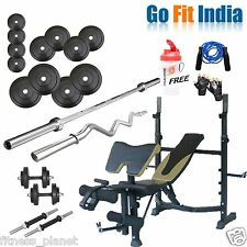 Go Fit 52 Kg Package With Rsk- 210 Bench With Other Accessories