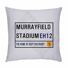 RUGBY Scozzese MURRAYFIELD Stadium strada segno Cuscino / Pillow Inc imbottitura.