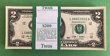 Nice 2009 $2 LA Pack Strap of 100 notes, GEMs!!