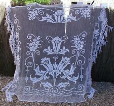 BEAUTIFUL FRENCH ANTIQUE FILET LACE BEDSPREAD BEAUTIFUL DESIGN CIRCA 1900 SUPERB