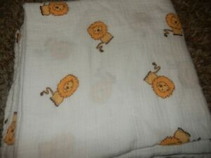 LN 47x47 Aden + Anais LION Muslin Baby Swaddle Receiving Crib Blanket Lovey