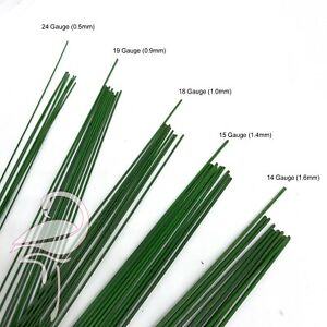 Florist Wire - Plastic Covered 18 Gauge (1.0mm) Green