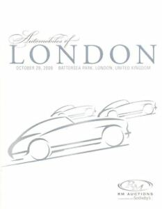 R M Sotheby's catalogue Automobiles of London October 28 2009 HB