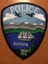 PATCH POLICE RUSTON (SAILBOAT) - WASHINGTON WA state