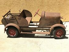 Antique Pedal Car Fire Truck 1920's Steelcraft Garton extra large