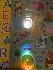 500 Mix stickers Alphabets, Animal, Fruits