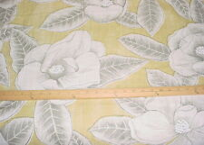 2 Zoffany / Harlequin Floria Citron Printed Linen Floral Upholstery Fabric