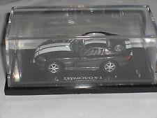 FAO SCHWARZ EXCLUSIVE BLACK DODGE VIPER 1:64 HOT WHEELS CAR IN NICE ACRYLIC CASE