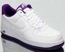 Nike Air Force 1 '07 2 Men's White Voltage Purple Low Lifestyle Sneakers Shoes