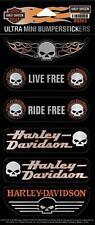 Harley Davidson pegatinas -/stickerset modelo ultra mini bumpersticker