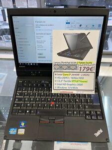pc portable Lenovo X220 Tablet pc I7-2640M 2.8ghz 4Go 160Go 12.5 Tactile HD W10
