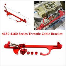 Adjustable 4150 4160 Red Billet Aluminum Throttle Cable Bracket Carburetor 350