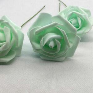50pcs Artificial Foam Flowers Foam Roses Bride Bouquet Party Wedding Home Decor